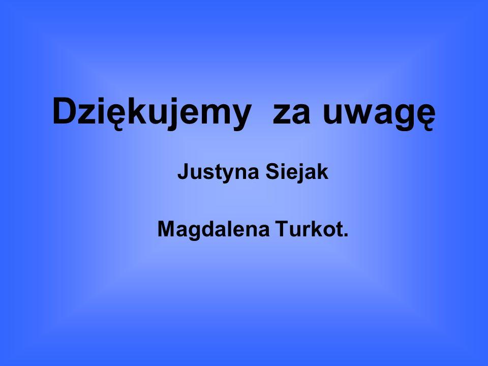 Dziękujemy za uwagę Justyna Siejak Magdalena Turkot.