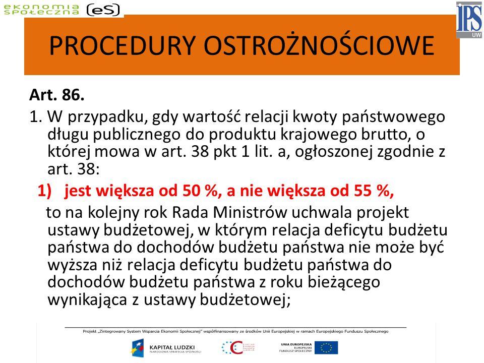 PROCEDURY OSTROŻNOŚCIOWE Art.86. 1.