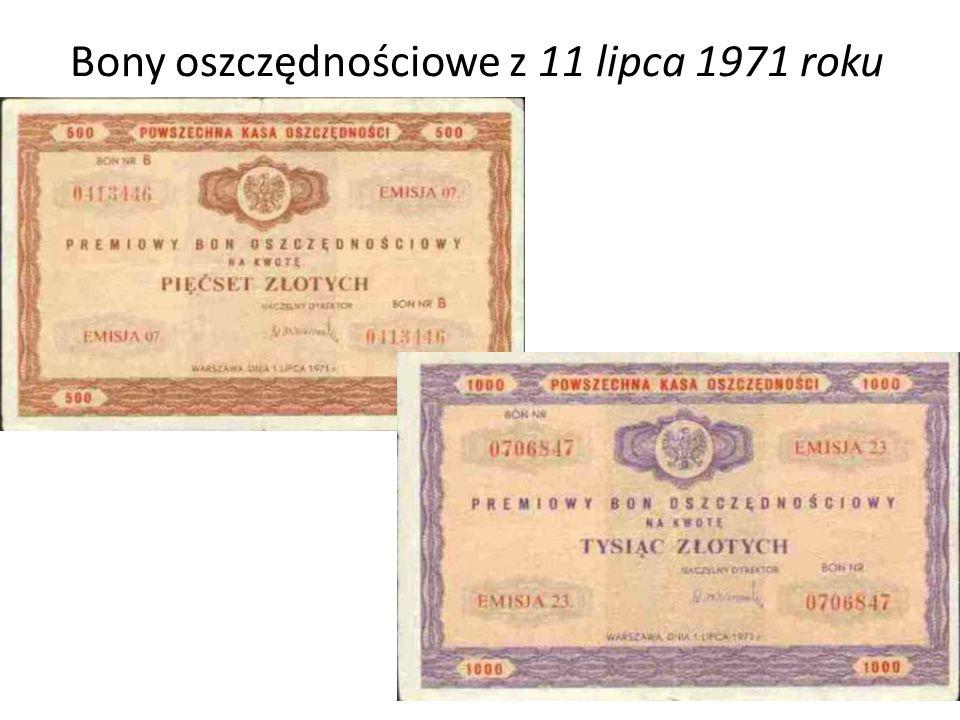 Bony oszczędnościowe z 11 lipca 1971 roku