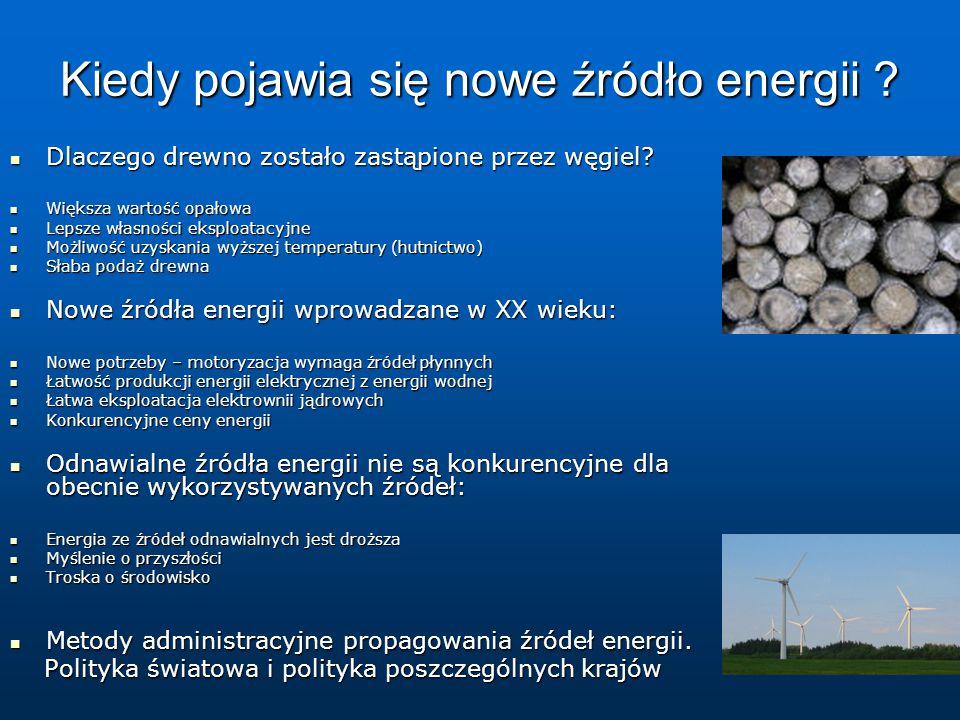 Kiedy pojawia się nowe źródło energii .Dlaczego drewno zostało zastąpione przez węgiel.
