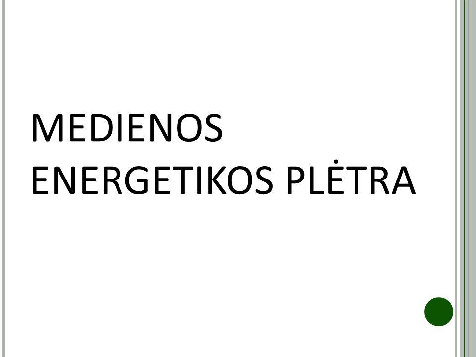 MEDIENOS ENERGETIKOS PLĖTRA