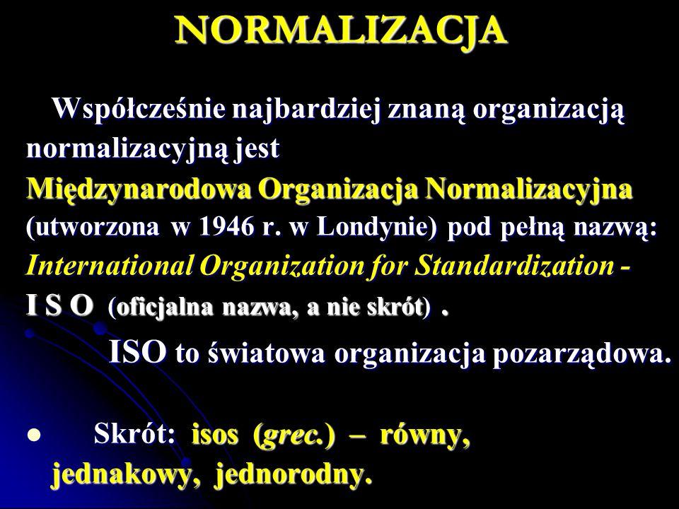Dokumenty normatywne – zasady, wytyczne, charakterystyki odnoszące się do różnych rodzajów działalności lub ich wyników.