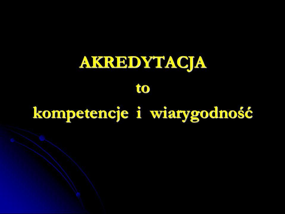 AKREDYTACJAto kompetencje i wiarygodność