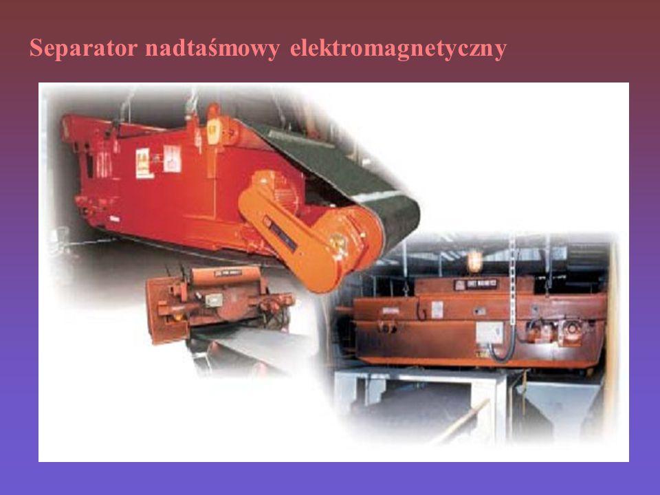 Separator nadtaśmowy elektromagnetyczny