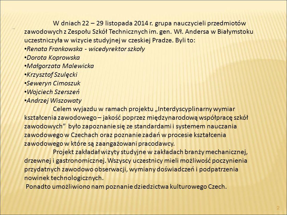 W dniach 22 – 29 listopada 2014 r.