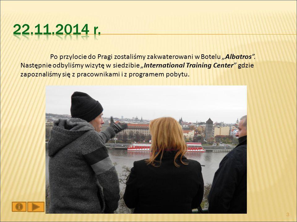 """Po przylocie do Pragi zostaliśmy zakwaterowani w Botelu """"Albatros ."""