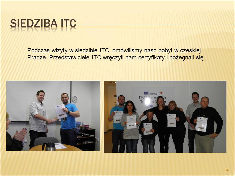 Podczas wizyty w siedzibie ITC omówiliśmy nasz pobyt w czeskiej Pradze.