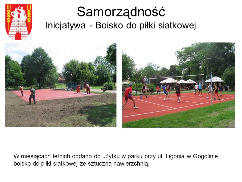 Samorządność Inicjatywa - Boisko do piłki siatkowej W miesiącach letnich oddano do użytku w parku przy ul.