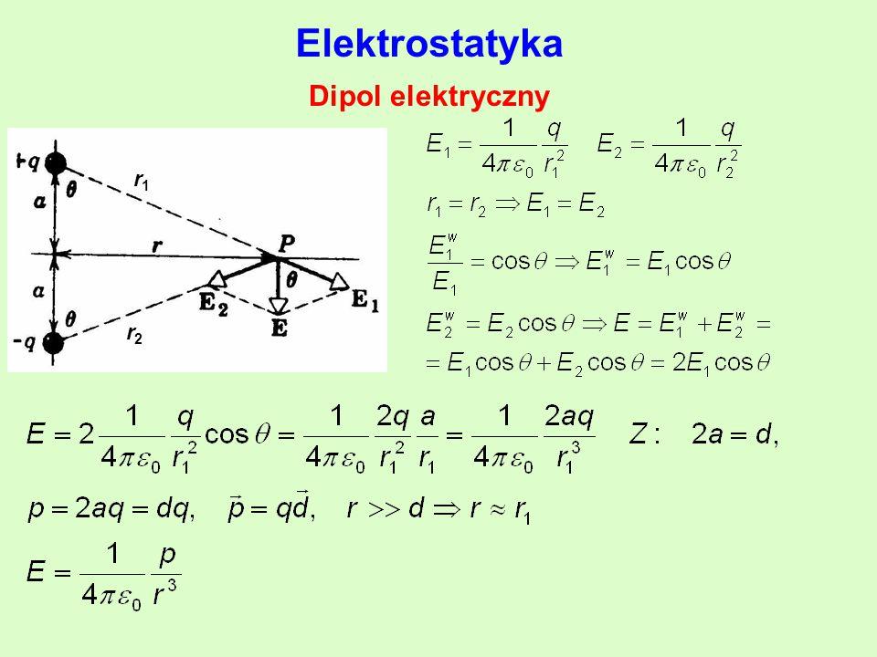 Elektrostatyka Dipol elektryczny r1r1 r2r2