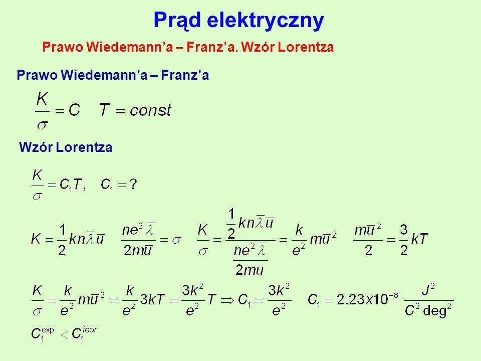 Prąd elektryczny Prawo Wiedemann'a – Franz'a.