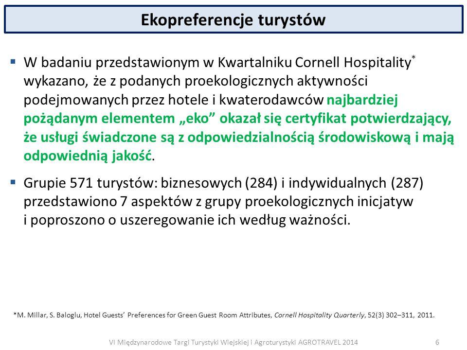 VI Międzynarodowe Targi Turystyki Wiejskiej i Agroturystyki AGROTRAVEL 2014 Europejskie Centrum Rolnictwa Ekologicznego i Turystyki  ECETA Poland podjęła się realizacji m.in.