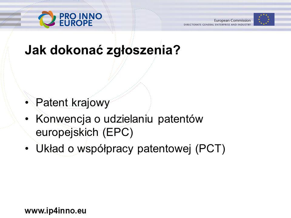 www.ip4inno.eu Jak dokonać zgłoszenia.