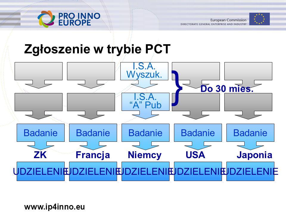 www.ip4inno.eu Zgłoszenie w trybie PCT I.S.A.Wyszuk.