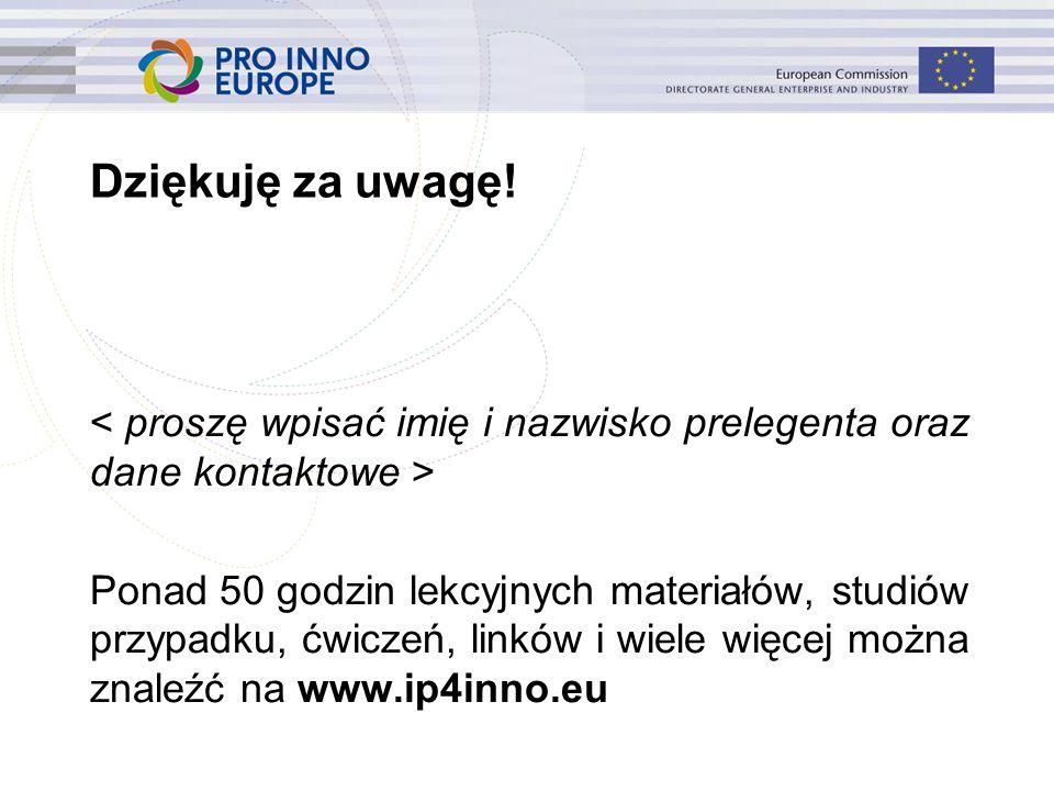 www.ip4inno.eu Dziękuję za uwagę.