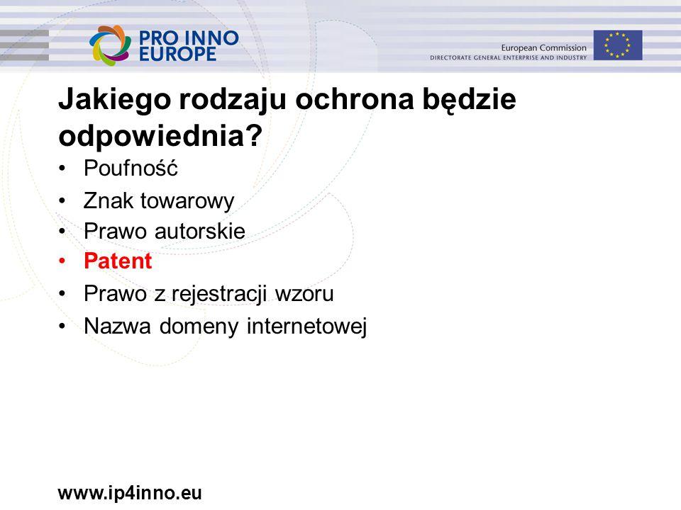 www.ip4inno.eu Jakiego rodzaju ochrona będzie odpowiednia.