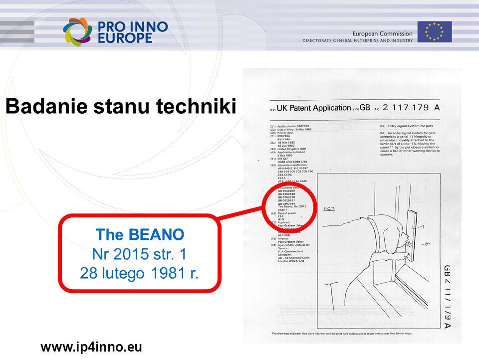 www.ip4inno.eu Badanie stanu techniki The BEANO Nr 2015 str. 1 28 lutego 1981 r.