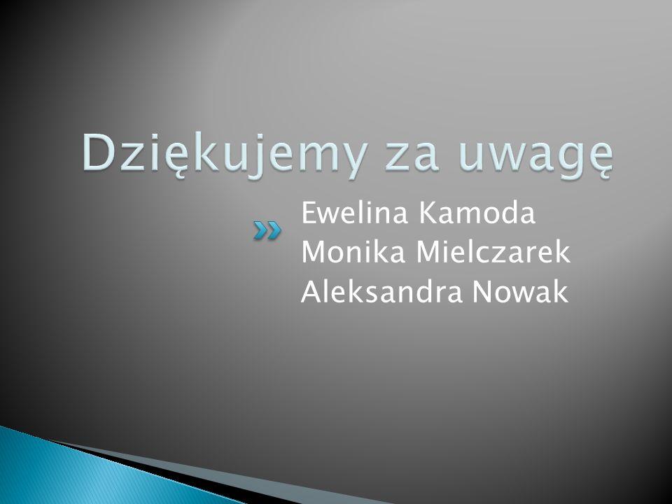 Ewelina Kamoda Monika Mielczarek Aleksandra Nowak