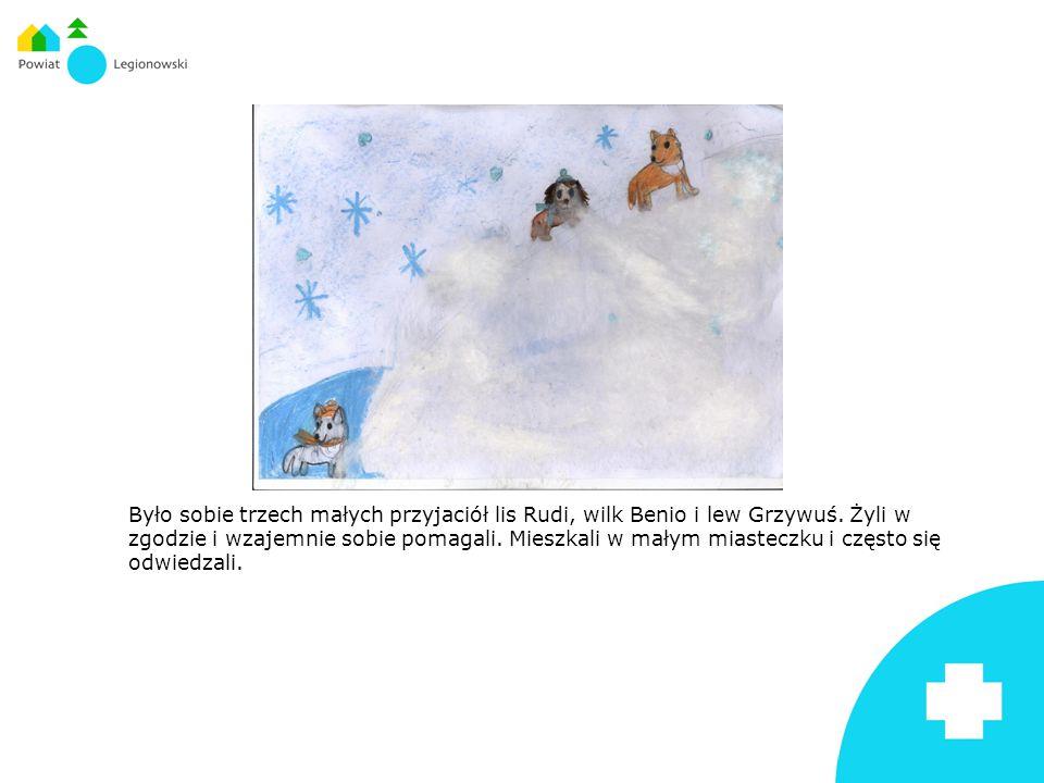 Było sobie trzech małych przyjaciół lis Rudi, wilk Benio i lew Grzywuś.