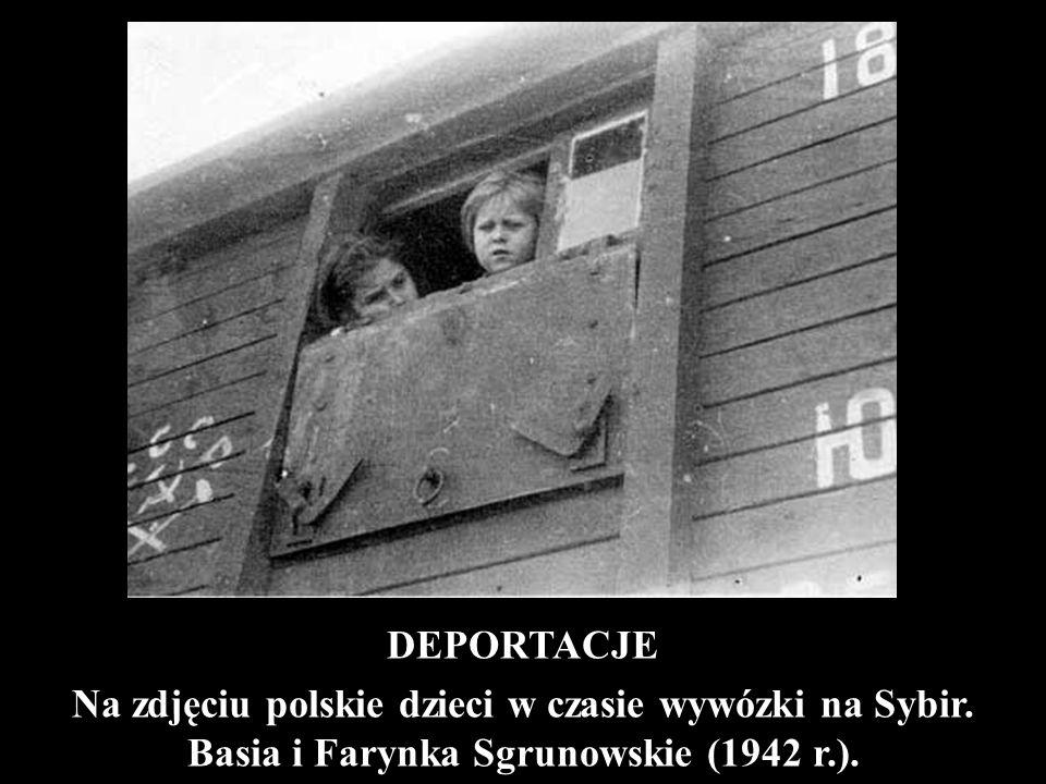 DEPORTACJE Na zdjęciu polskie dzieci w czasie wywózki na Sybir. Basia i Farynka Sgrunowskie (1942 r.).