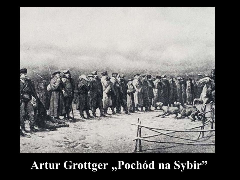 """Artur Grottger """"Pochód na Sybir"""""""