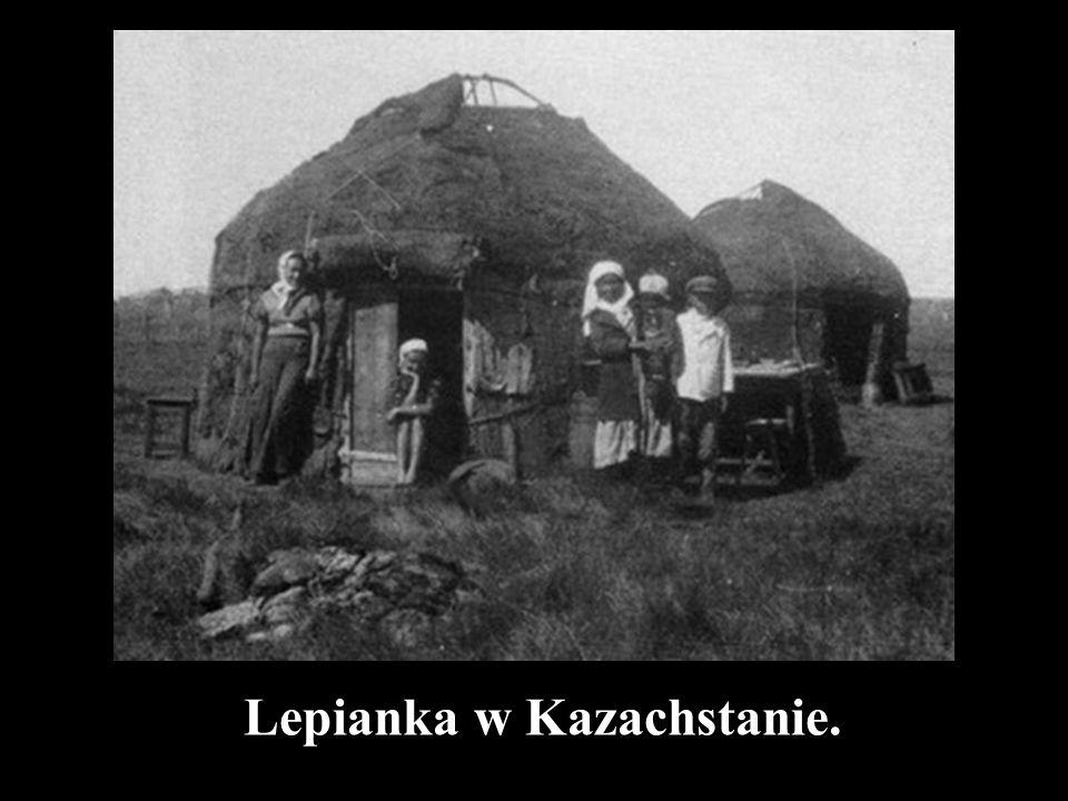 Lepianka w Kazachstanie.