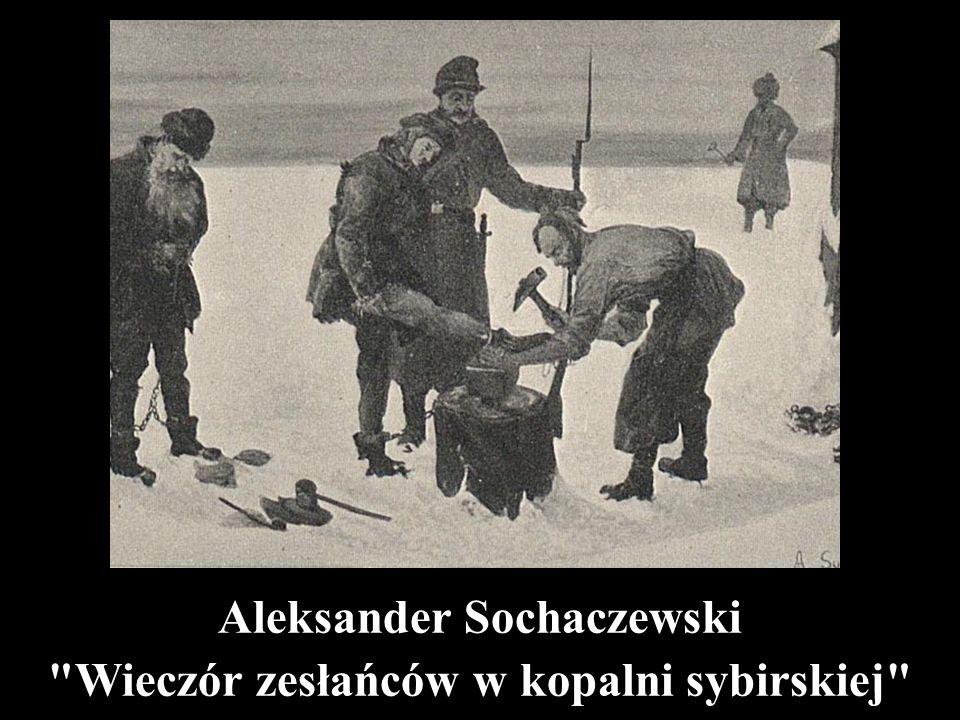 """Jacek Malczewski """"Niedziela w kopalni"""
