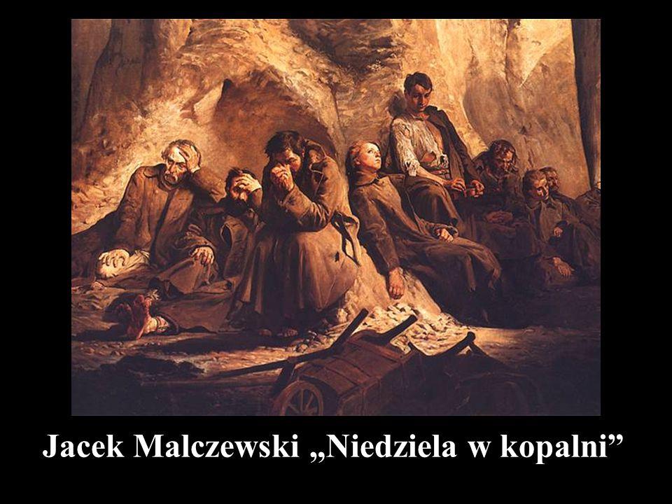 """Jacek Malczewski """"Niedziela w kopalni"""""""