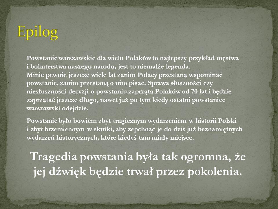 Powstanie warszawskie dla wielu Polaków to najlepszy przykład męstwa i bohaterstwa naszego narodu, jest to niemalże legenda. Minie pewnie jeszcze wiel