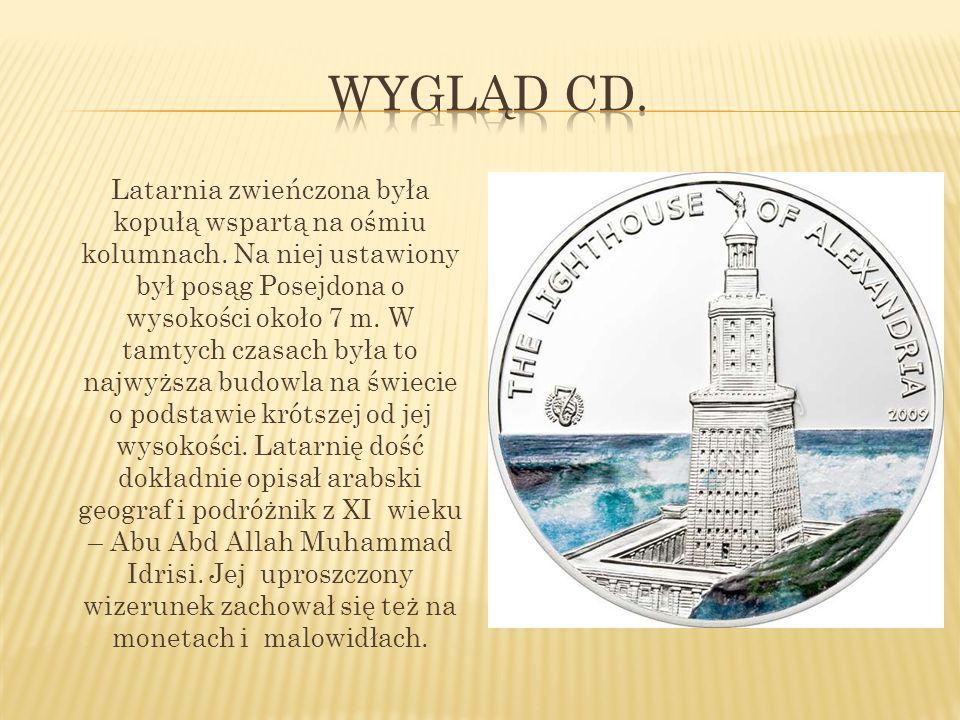 Latarnia znajdowała się na przybrzeżnej wysepce Faros, która mając sztuczne połączenie ze stałym lądem poprzez groblę heptastadion, stanowiła część wejścia do portu w Aleksandrii w Egipcie.