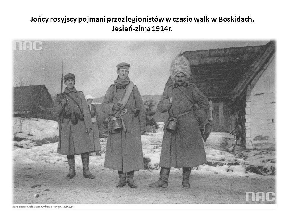 Jeńcy rosyjscy pojmani przez legionistów w czasie walk w Beskidach. Jesień-zima 1914r.