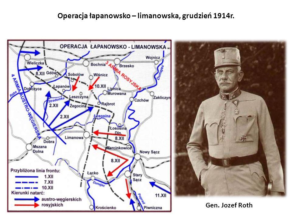 Operacja łapanowsko – limanowska, grudzień 1914r. Gen. Jozef Roth