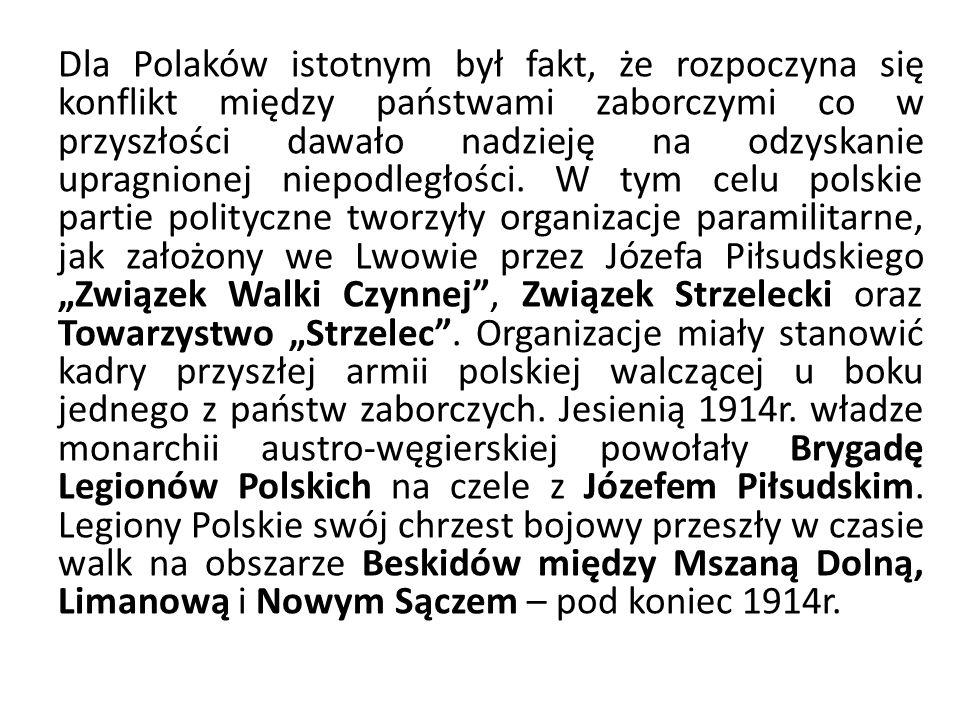 Dla Polaków istotnym był fakt, że rozpoczyna się konflikt między państwami zaborczymi co w przyszłości dawało nadzieję na odzyskanie upragnionej niepo