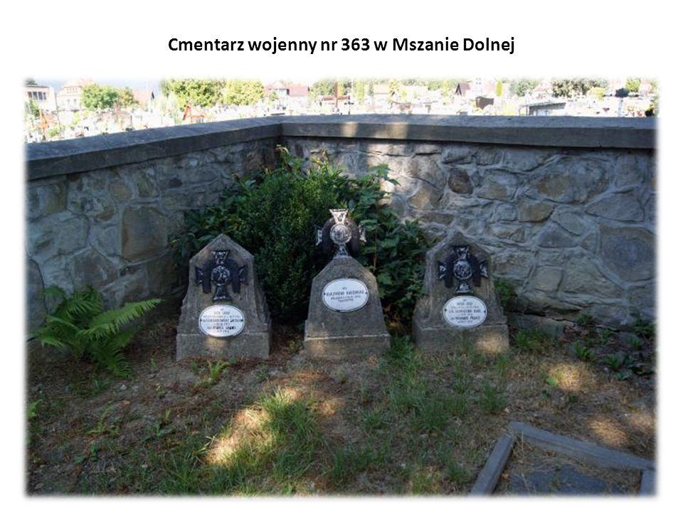 Cmentarz wojenny nr 363 w Mszanie Dolnej