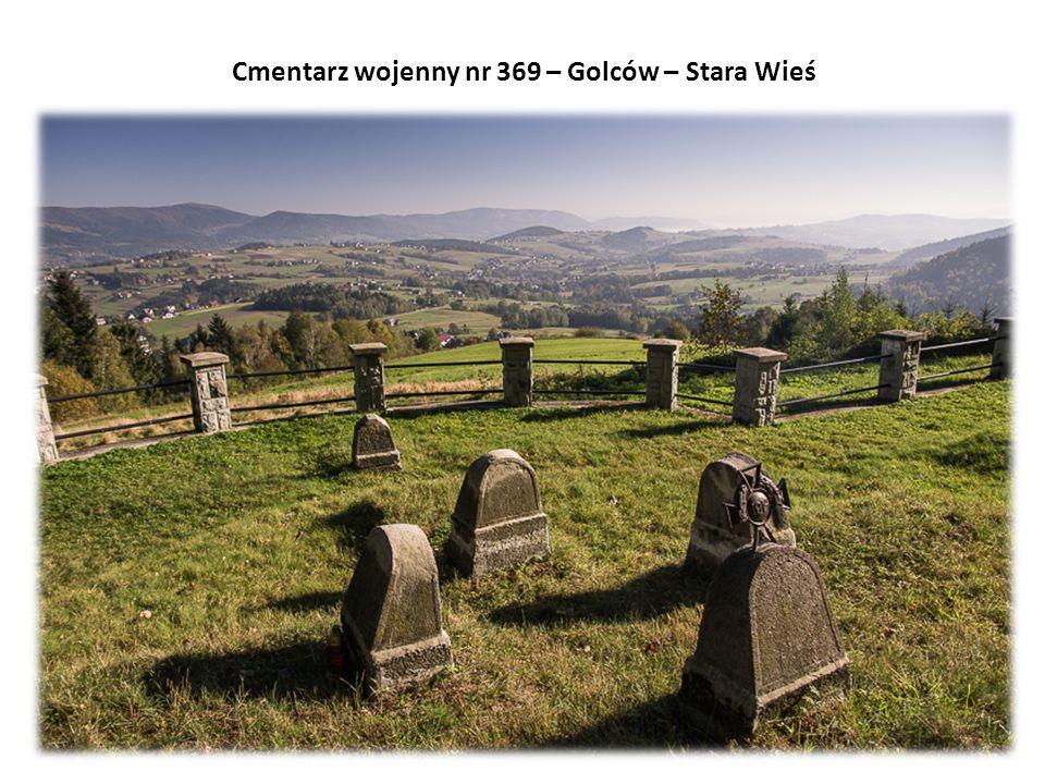 Cmentarz wojenny nr 369 – Golców – Stara Wieś