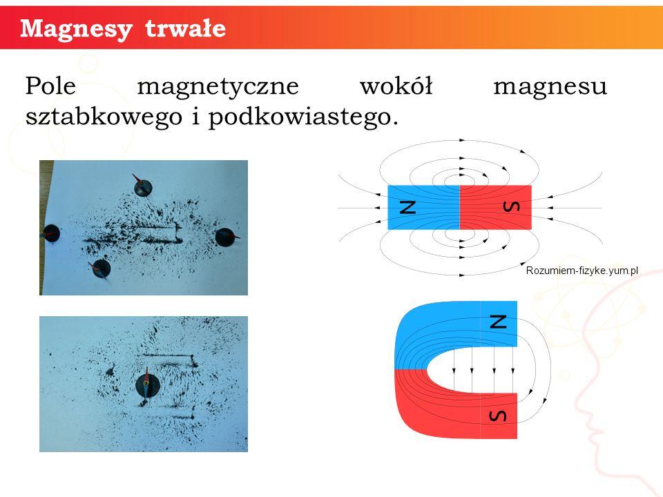 Magnesy trwałe Pole magnetyczne wokół magnesu sztabkowego i podkowiastego. Rozumiem-fizyke.yum.pl