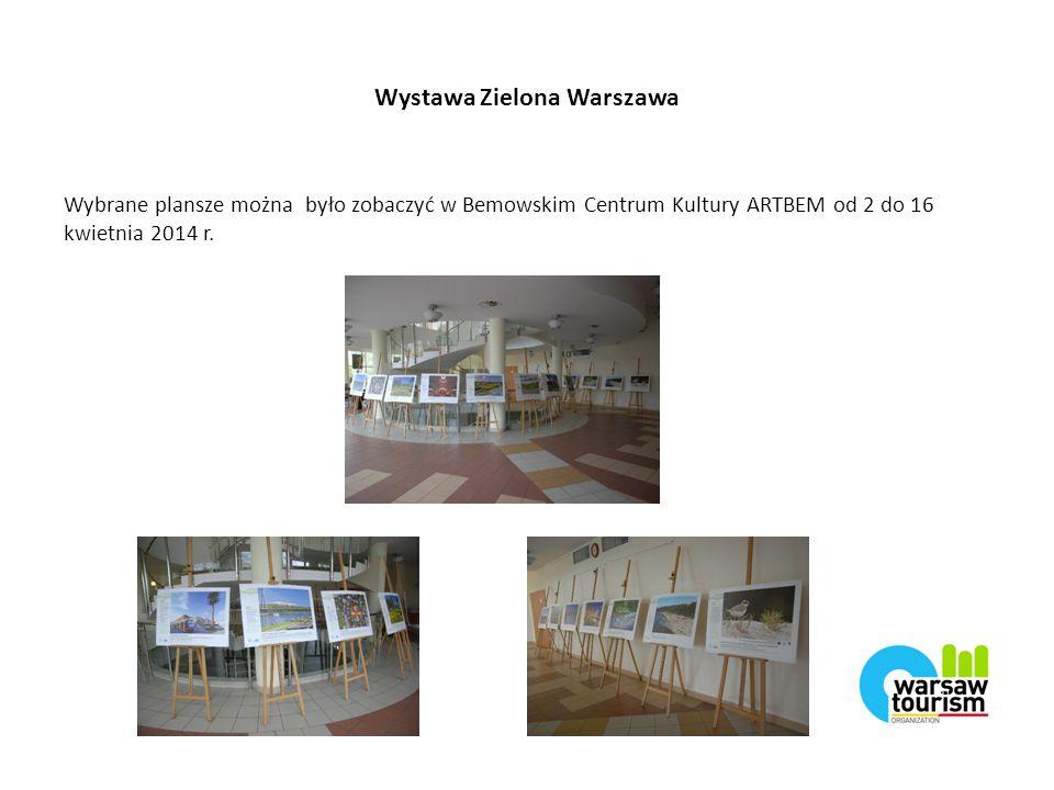 Wystawa Zielona Warszawa Wybrane plansze można było zobaczyć w Bemowskim Centrum Kultury ARTBEM od 2 do 16 kwietnia 2014 r.