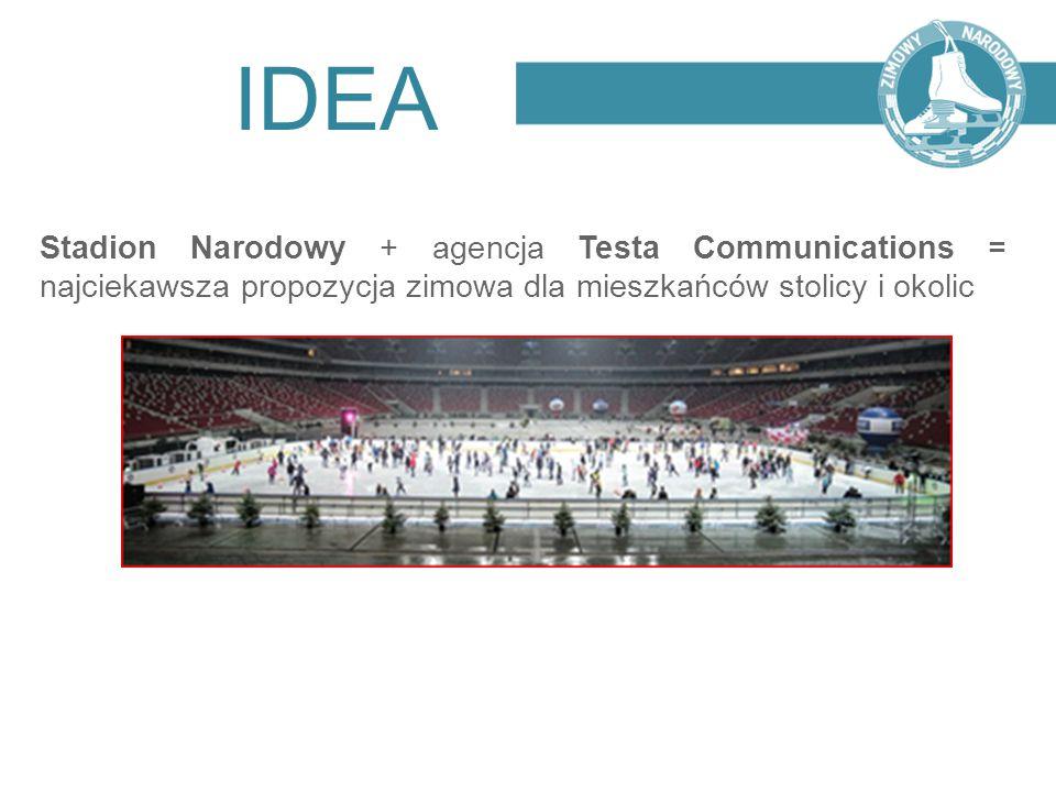 IDEA Stadion Narodowy + agencja Testa Communications = najciekawsza propozycja zimowa dla mieszkańców stolicy i okolic