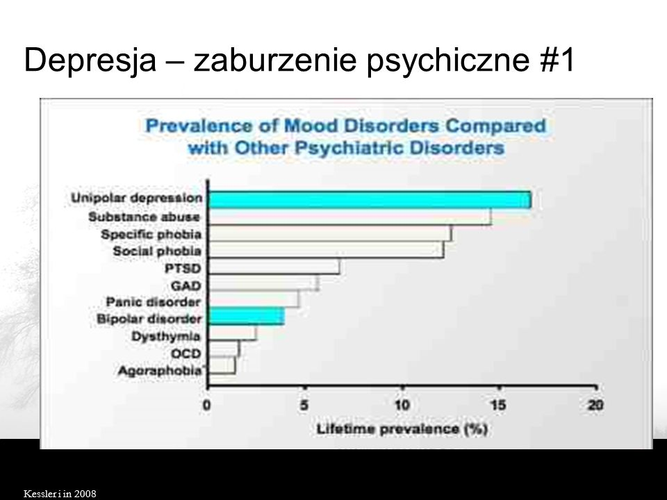 Depresja – zaburzenie psychiczne #1 Kessler i in 2008