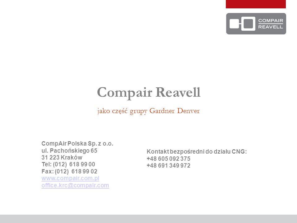 Compair Reavell jako część grupy Gardner Denver CompAir Polska Sp.