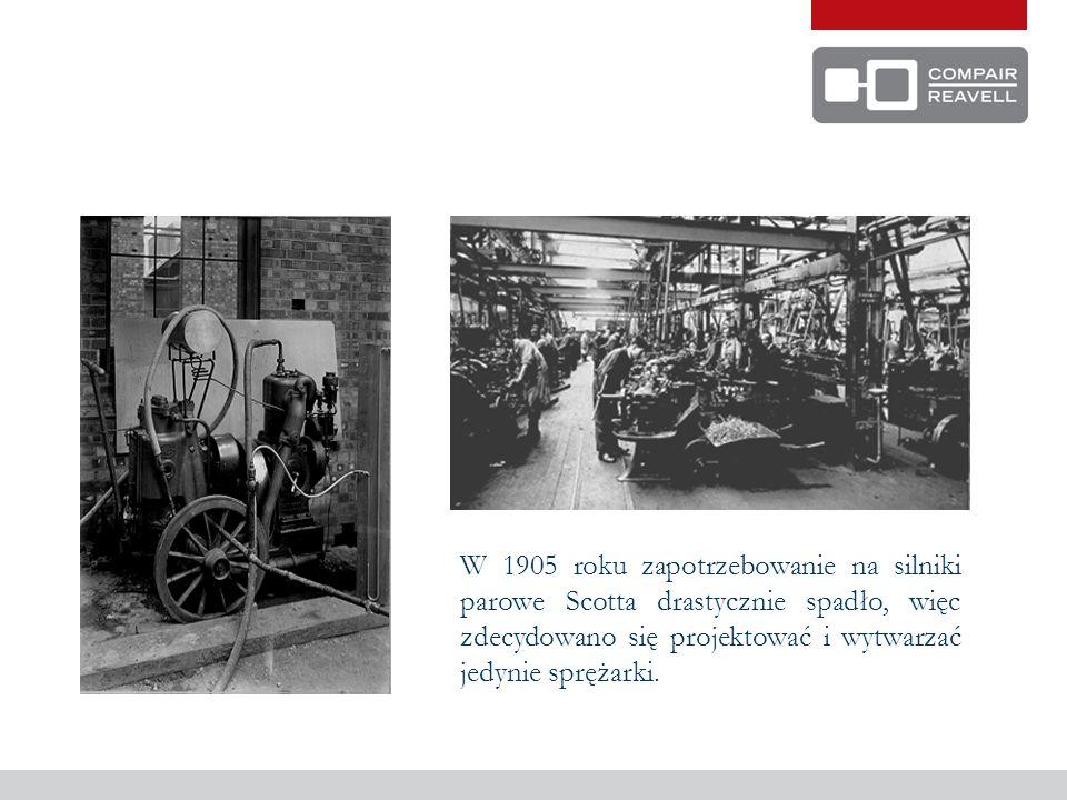 Kompresor nr 1 miał cylinder o średnicy 6 ze skokiem tłoka 6 i został wyprodukowany w 1899.