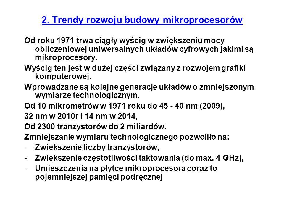 Pentium (60 oraz 66 MHz) * ukazał się 22 marca 1993 * zegar: o 60MHz 100 MIPS (70,4 SPECint92, 55,1 SPECfp92 on Xpress 256K L2) o 66 MHz 112 MIPS (77,9 SPECint92, 63,6 SPECfp92 on Xpress 256K L2) * szyna danych 64 bit * szyna adresowa 32 bit * ilość tranzystorów 3,1 miliona * wymiar technologiczny 0,8 mikrona * pamięć adresowana 4 GB * pamięć wirtualna 64 TB * obudowa 273 PGA * rozmiar obudowy 2,16 x 2,16 * zasilanie 5V Najważniejsze procesory rodziny 80x86