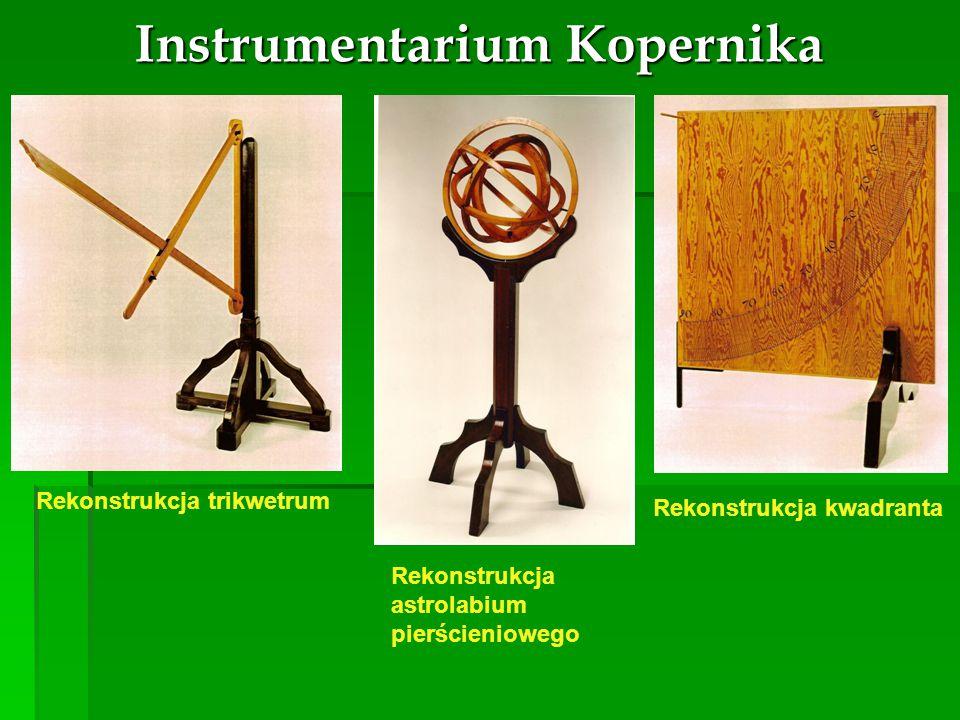 Instrumentarium Kopernika Rekonstrukcja trikwetrum Rekonstrukcja kwadranta Rekonstrukcja astrolabium pierścieniowego