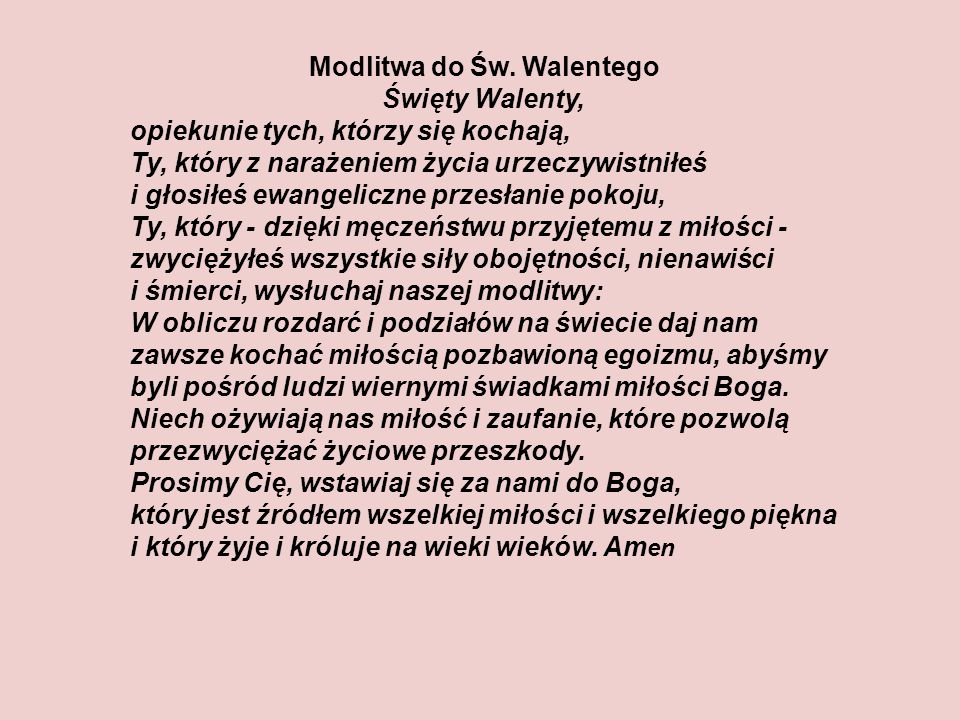 Modlitwa do Św.