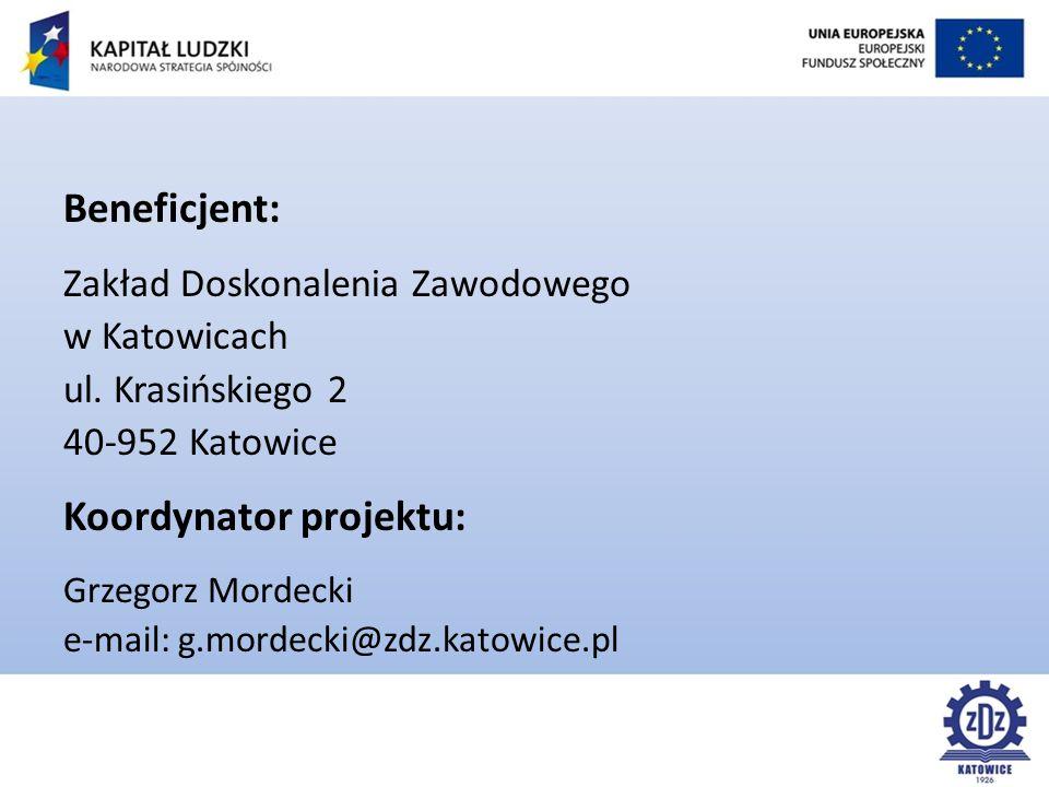 Beneficjent: Zakład Doskonalenia Zawodowego w Katowicach ul.