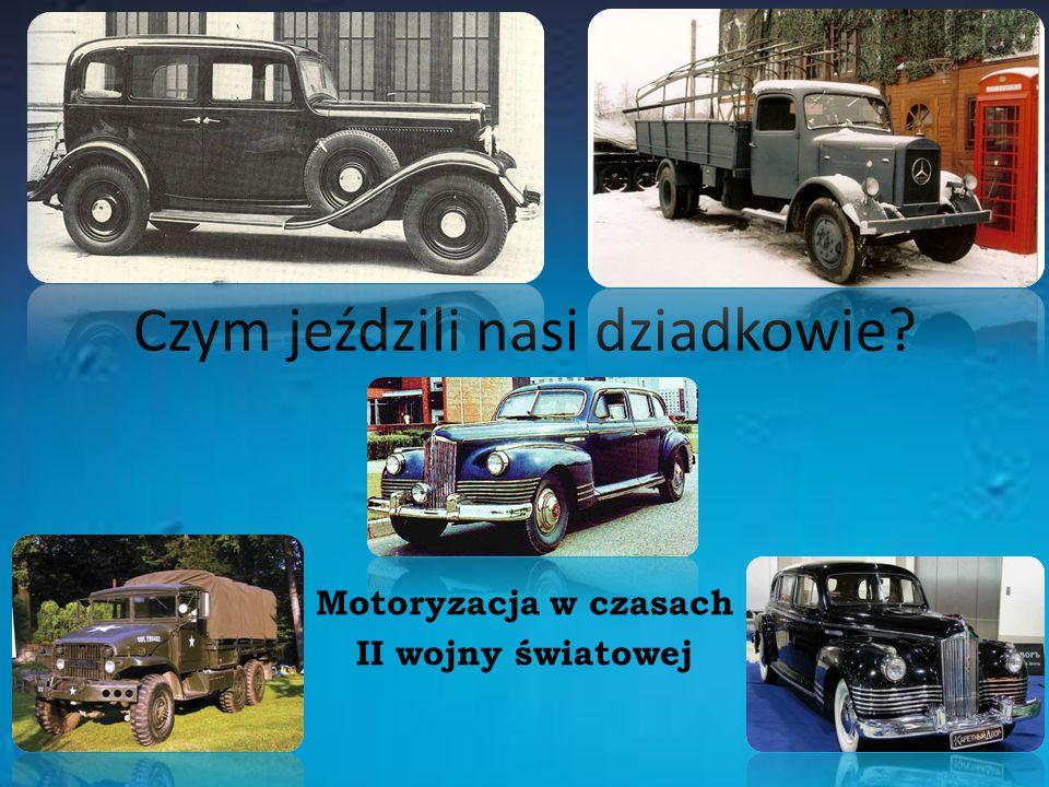 Czym jeździli nasi dziadkowie? Motoryzacja w czasach II wojny światowej