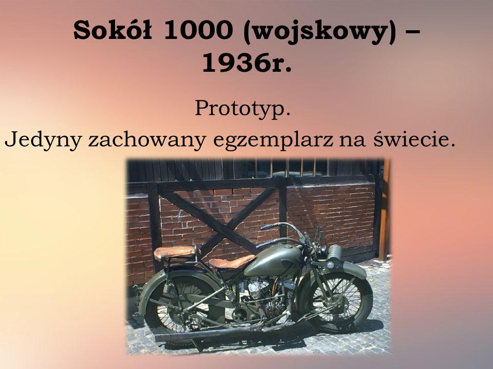 Sokół 1000 (wojskowy) – 1936r. Prototyp. Jedyny zachowany egzemplarz na świecie.
