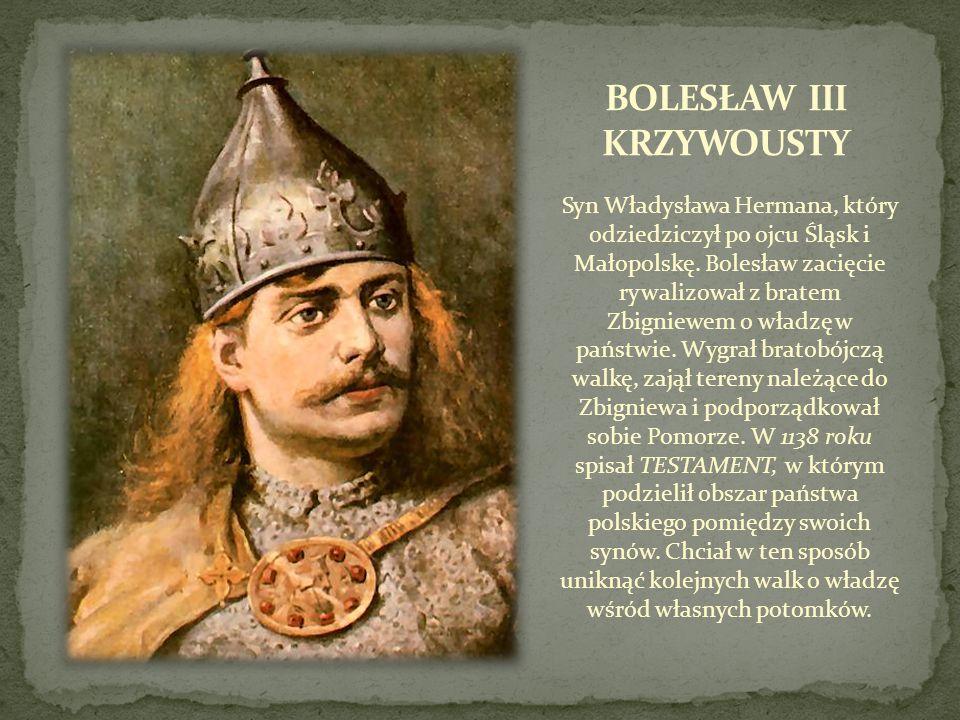 Syn Władysława Hermana, który odziedziczył po ojcu Śląsk i Małopolskę. Bolesław zacięcie rywalizował z bratem Zbigniewem o władzę w państwie. Wygrał b