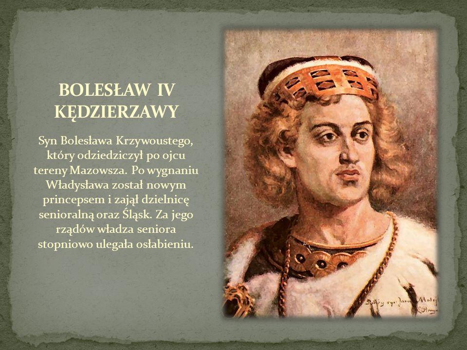 Syn Bolesława Krzywoustego, który odziedziczył po ojcu tereny Mazowsza. Po wygnaniu Władysława został nowym princepsem i zajął dzielnicę senioralną or