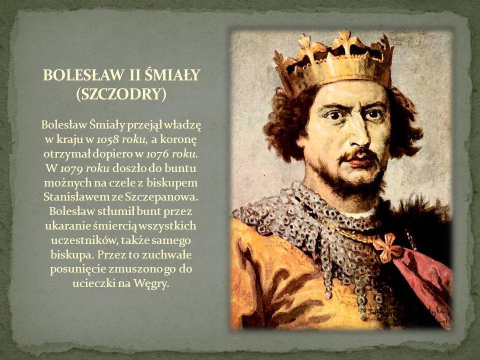 Bolesław Śmiały przejął władzę w kraju w 1058 roku, a koronę otrzymał dopiero w 1076 roku. W 1079 roku doszło do buntu możnych na czele z biskupem Sta