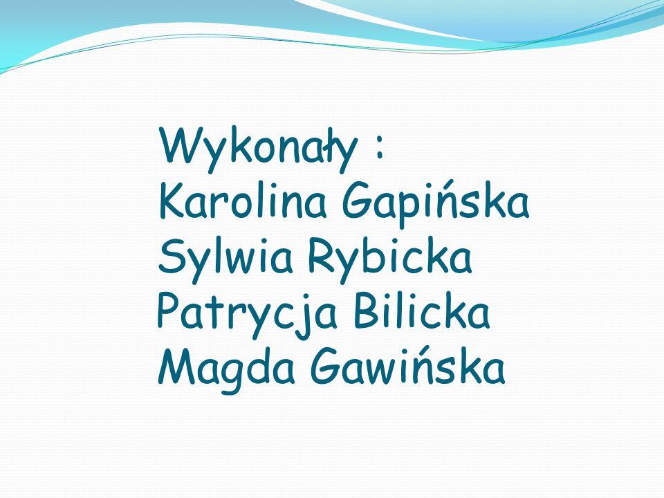 Wykonały : Karolina Gapińska Sylwia Rybicka Patrycja Bilicka Magda Gawińska